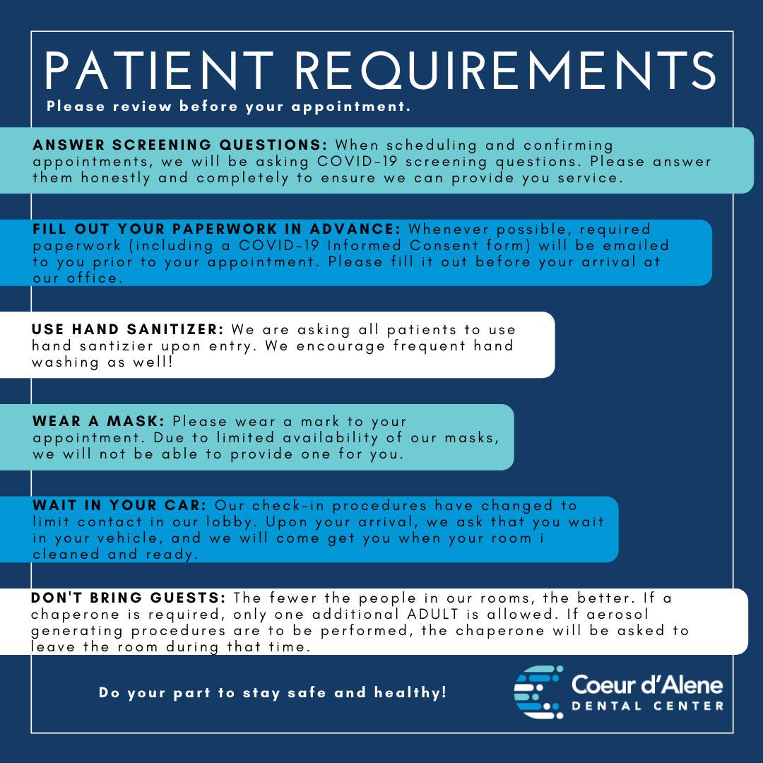 Patient Requirements